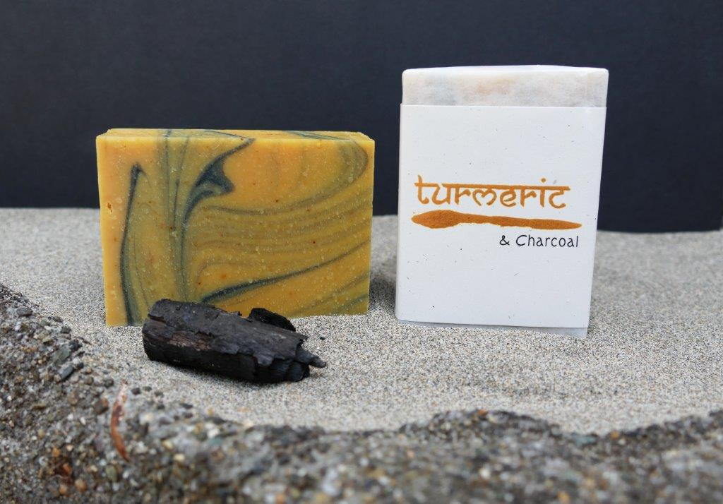 Harmony Soapworks - Turmeric and Charcoal Soap